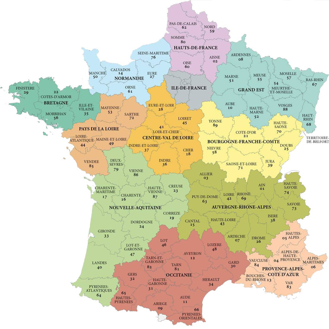 Map Of France New Regions.French Regions Country Homes France